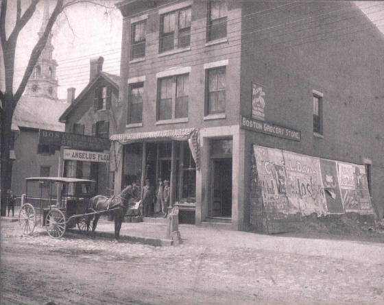 Boston Branch Grocery (Flavel Beal is man on the right), circa 1900. Provided by Polly Davis.