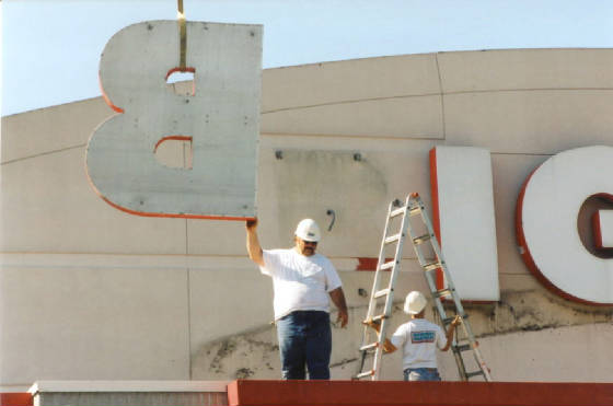 Kmart Sign Coming Down North Adams 2002
