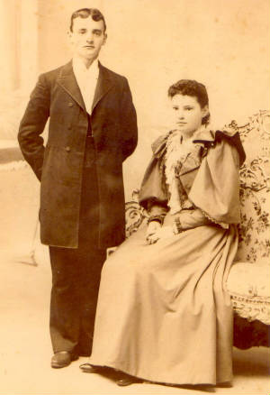 Eugene and Lucy Lampron on their wedding day in 1893. Photo provided by the family.