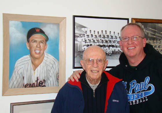 Herb Plews with Larry Stauss, December 2010. All photos on this page provided by Larry Stauss.