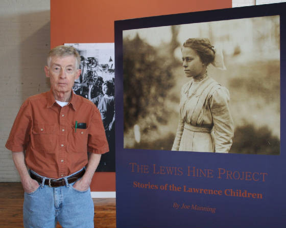Joe Manning at opening of exhibit sponsored by Lawrence History Center, Lawrence, MA, Apr 14, 2011.