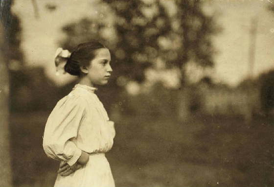 Lumina Desmarais, Winchendon, Massachusetts, September 3, 1911. Photo by Lewis Hine.