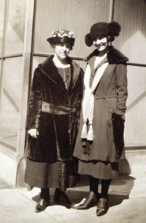 Mamie Laberge Mossey (right) and friend.