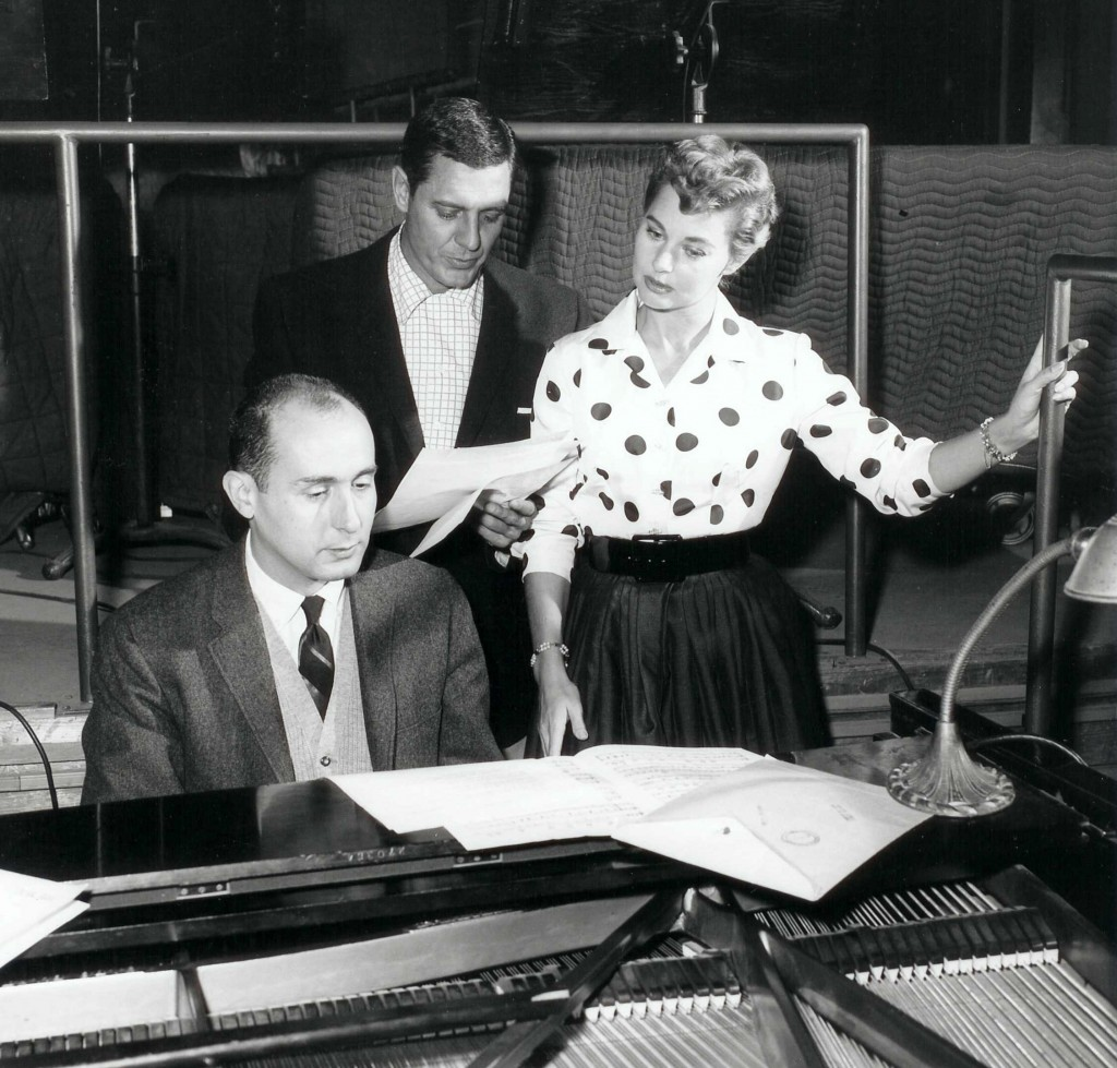 Henry Mancini, Craig Stevens and Lola Albright. Photo provided by Mancini estate.