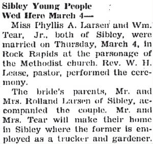 Lyon County Reporter, March 11, 1937.
