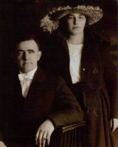 Martin and Mary Markey, on their wedding day in 1921.