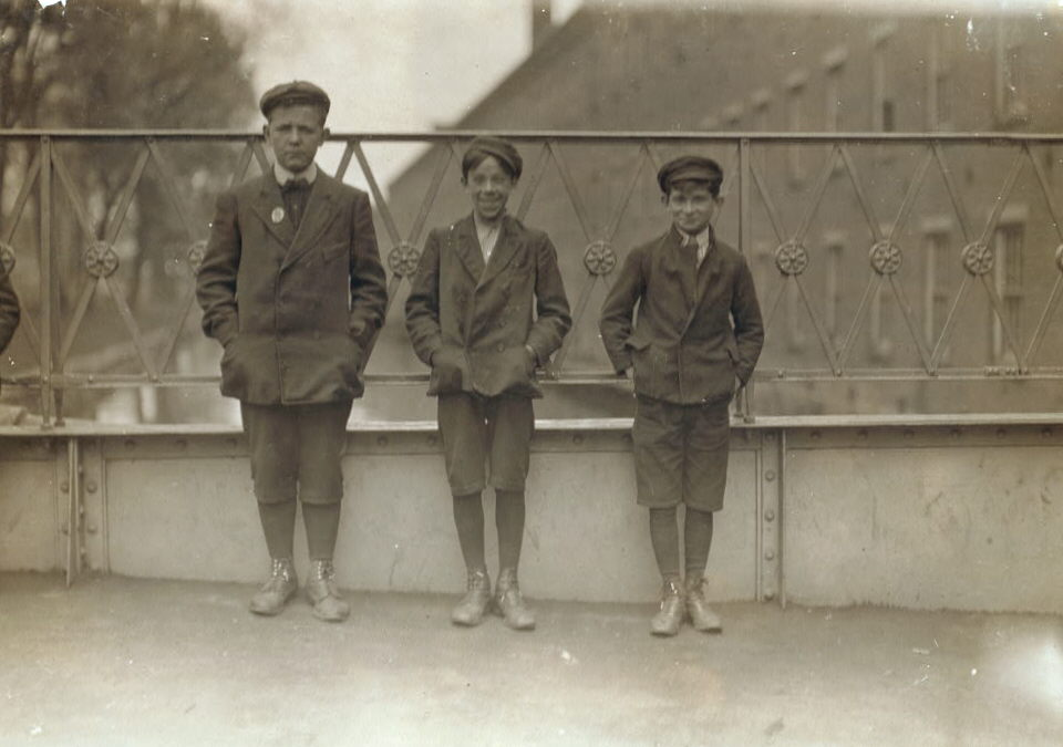 (L-R): Martin Markey (14), Jeremiah Moore (13), Napoleon Camire (14)