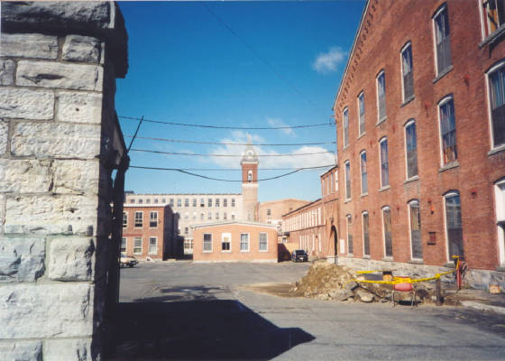 Former Sprague Electric gate. Photo taken just after discovering that Mass MoCA was closed (1996)
