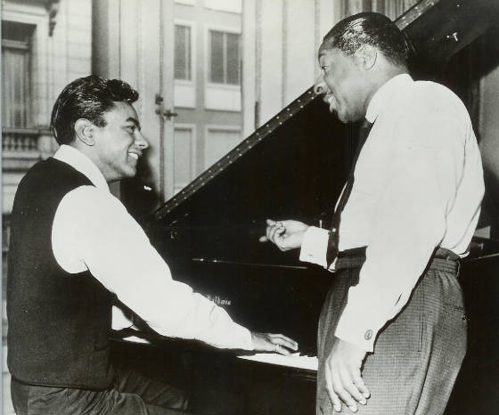 Johnny Mathis and Erroll Garner, courtesy of Johnny Mathis Archives.