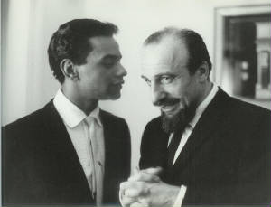 Johnny Mathis and Mitch Miller, courtesy of Johnny Mathis Archives.