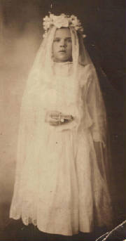 Mildred Greenwood, at first communion, circa 1904. Photo provided by family.