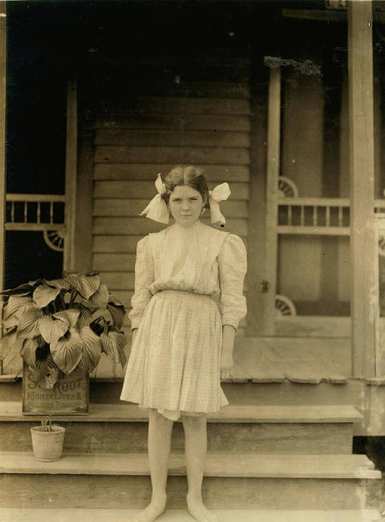 Myrtle Bagwell, Spartanburg, South Carolina, May 1912. Photo by Lewis Hine.