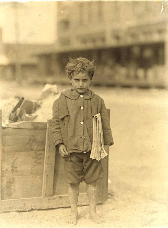 Tony Valenti, 6 years old, Tampa, Florida, March 1913. Photo by Lewis Hine.