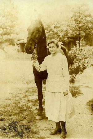 Nannie Coleson, about 16 years old. Photo provided by family.