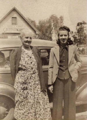 (L to R) Glen's mother Nellie, and sister Eathel, date unknown