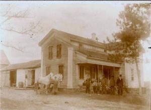 Noah Allen on far right, at Allen homestead, circa 1914. photos provided by descendants.
