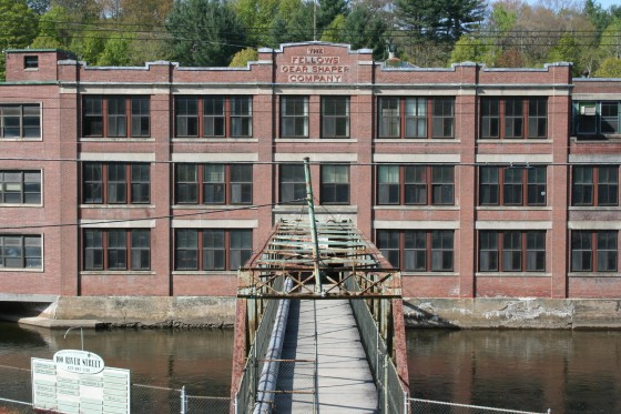 Former Fellows Gear Shaper plant, 2008. Bridge was replaced in 2011.