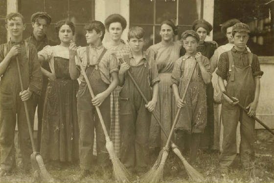 Francis Paquet (front-3rd from right), 13 yrs, Winchendon, Mass, Sept 1911. Photo by Lewis Hine.