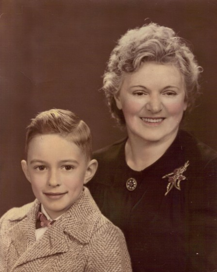Photo2.JPG Rosina Goyette Gagnon and son Donald in the mid-1940s.