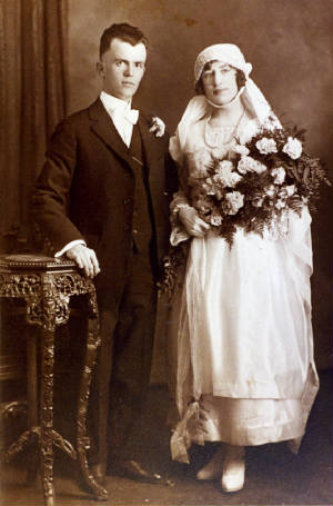 Peter and Isabella Roy Durette on their wedding day, 1920. Photo provided by family.