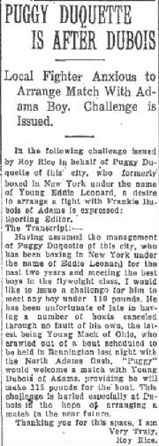 North Adams Transcript, February 13, 1925