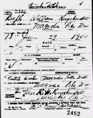 WWI draft registration