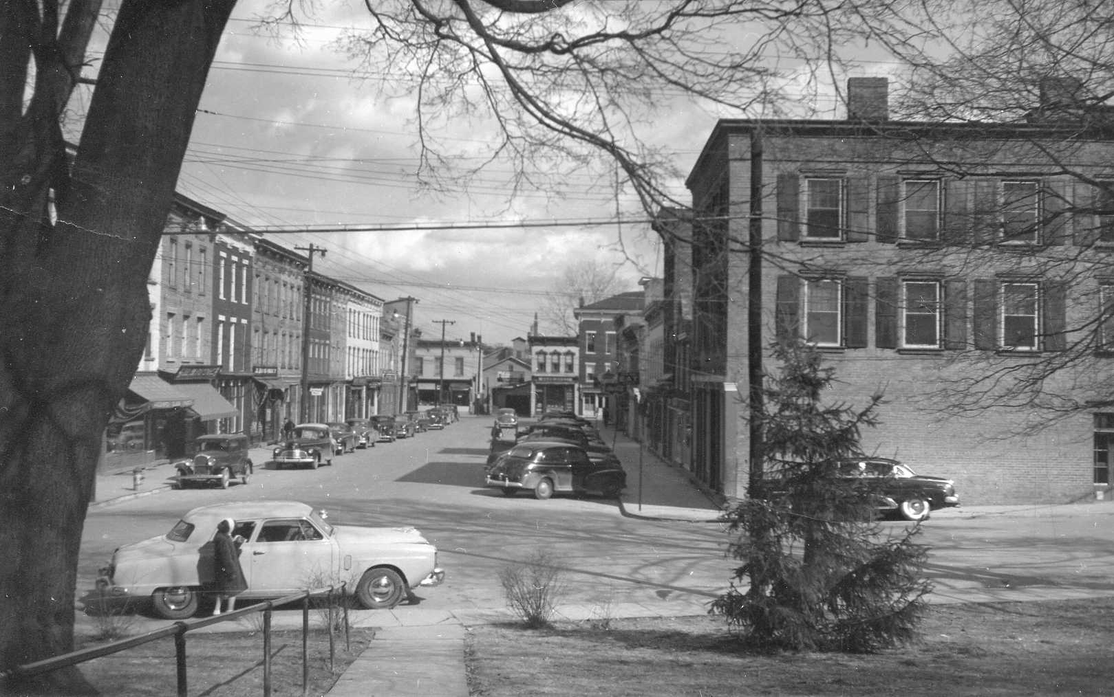 Reed Street, Coxsackie, NY, 1950s, photo by George T. Morgan
