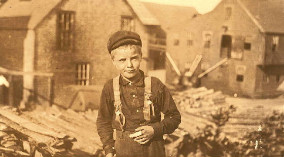 Richard Mills, 9 years old, Eastport, Maine, August 1911. Photo by Lewis Hine.