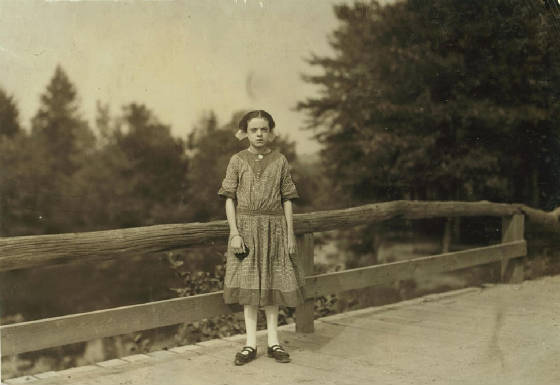 Rosina Goyette, 14 years old, Winchendon, Mass, September 3, 1911. Photo by Lewis Hine.