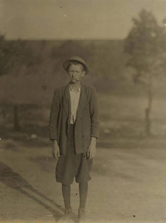 Roy Hammett, 19 years old, Spartanburg, South Carolina, May 1912. Photo by Lewis Hine.