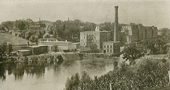 Salmon Falls Manufacturing Company, Rollinsford, New Hampshire, 1906 postcard.