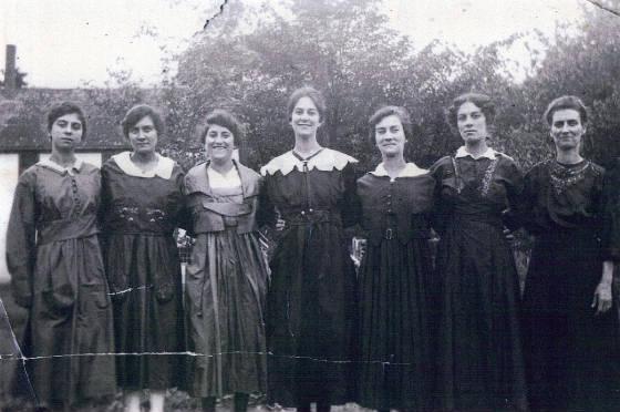 Laberge sisters (L-R): Odella, Mamie, Eglantine, Agnes, Roseanna, Josephine & Louise.