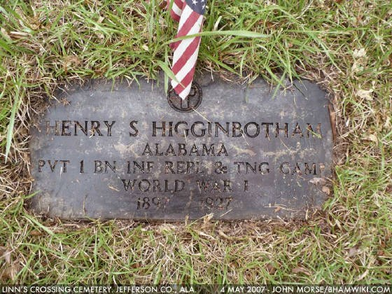 Linn's Crossing Cemetery is near Graysville, Alabama. Photo by John Morse.