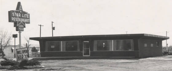 Starlite Restaurant, just before it opened in 1959. Courtesy of Salem Times-Commoner.
