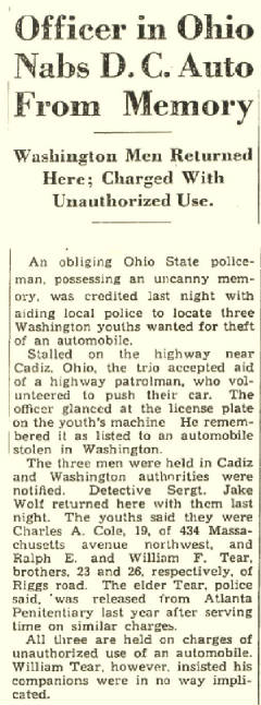 Washington Post, August 26, 1933.