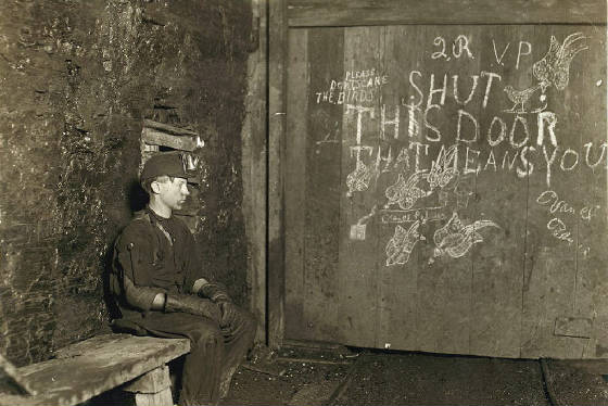 Vance Palmer, unknown coal mine in Harrison County, West Va, Sept 1908. Photo by Lewis Hine.