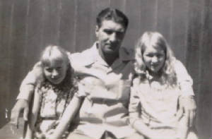 Walter Omar with his two daughters, Emily (left) and Helena, 1940s. Photo provided by family.