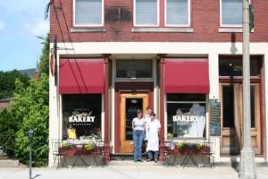 (L to R), Maureen Clark, Marsha Dubois and Kristin Dubois, Kristin's Bakery & Bistro, Keene, NH, 2007. Photo by Joe Manning.