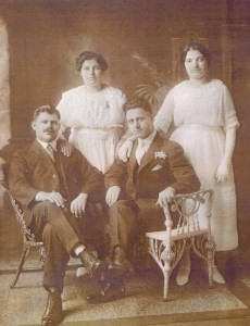 (L to R), Fred and George Libbares; wives Eugenia and Georgia, photo provided by family