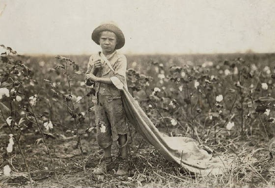 Warren Frakes, 6 yrs old, Comanche County, Oklahoma, October 11, 1916. Photo by Lewis Hine.