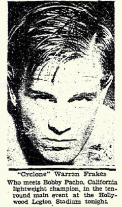 Clipping from California newspaper, 1931