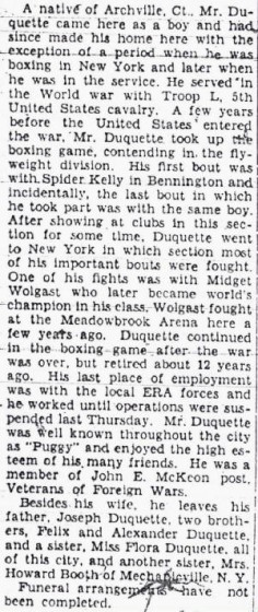 North Adams Transcript, October 1, 1935. Used with permission. Conclusion