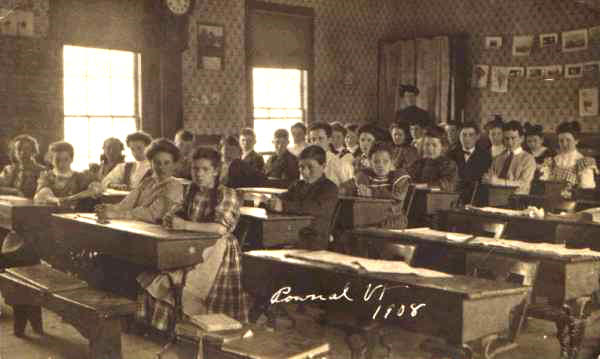 Addie is second girl from left. Courtesy of Pownal Historical Society.