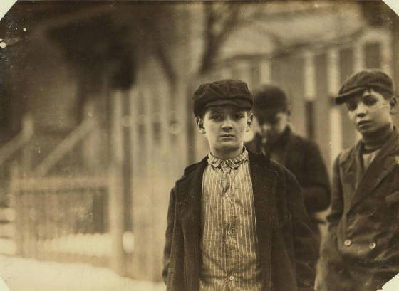 Alfred Benoit, New Bedford, Massachusetts, January 1912. Photo by Lewis Hine.