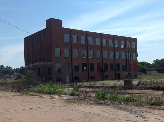 Former Bibb Mill, 2013. Photo by Denise Goings.