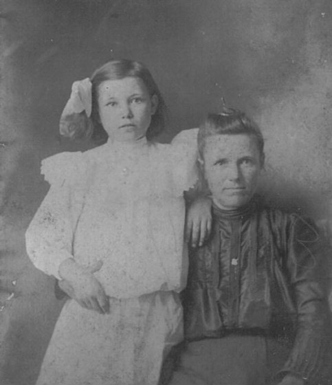 Mattie Young Ricks and her mother Catherine Young, circa 1903