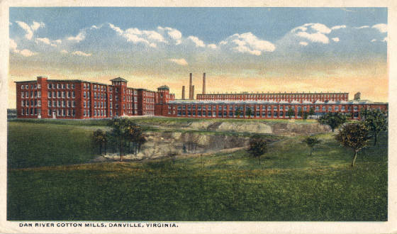 Postcard of Dan River Mills, Danville, Virginia.