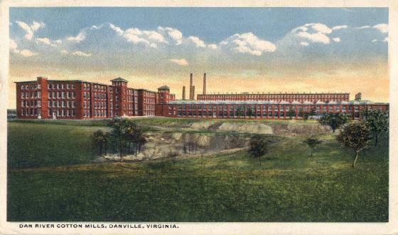 Postcard of Dan River Mills, Danville, Virginia.