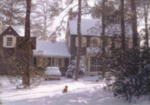 My boyhood home (and dog Willie) in Dowell, MD, circa 1960. Photo by my father, Joe Manning Sr.