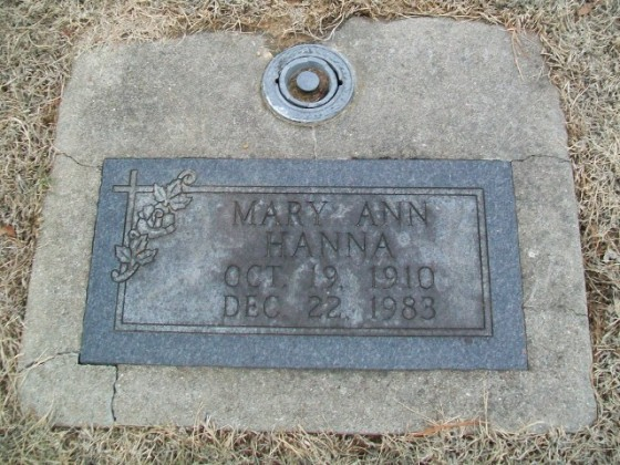 Grave of Elizabeth Padgett Hanna, Haven Hill Cemetery, Olney, Illinois. Courtesy of FindAGrave.com.